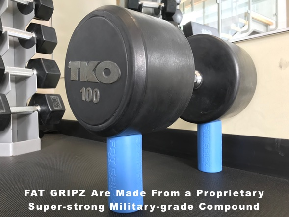 Fat Grips in the gym.